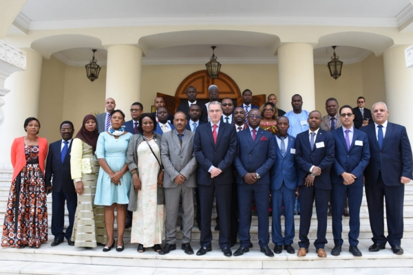 Concluding the training for diplomats from French-speaking African countries